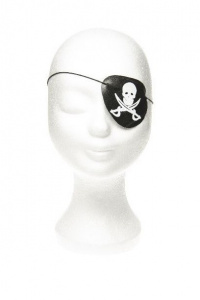 LG-Imports eye patch pirate boys 8 cm polyester black/white