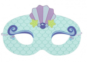 LG-Imports eye mask mermaid girls 18 x 11 cm mint green