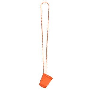 LG-Imports shot Glass Necklace Orange