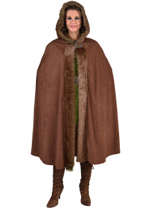 Magic Design verkleedcape Bont polyester bruin