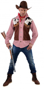 Magic Design verkleedvest Cowboy polyester bruin/rood