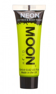 Moon Glow face & body paint Neon UV 12 ml geel