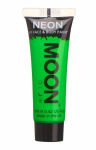 Moon Glow face & body paint Neon UV 12 ml green