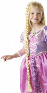 Rubie's vlecht Rapunzel junior 90 cm synthetisch blond