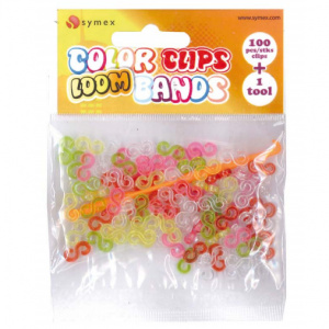 Symex loombandjes Color Clip junior rubber 101-delig