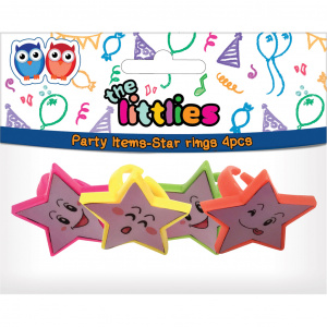 The Littlies rings stars girls 4 pieces