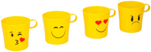 TOM drinking cup set 8 x 10 cm 250 ml yellow 4 pcs 4 Drinking cups