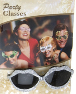 TOM party glasses Mouth silver size one-size