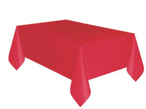 Unique tablecloth 274 x 140 cm red