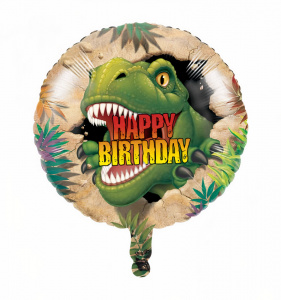 Witbaard folieballon happy birthday dino junior 46 cm groen