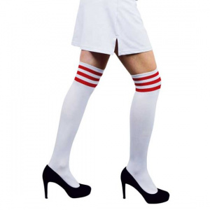 Witbaard stockings Cheerleader ladies polyester white/red one-size