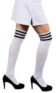 Witbaard stockings Cheerleader ladies polyester white/black one-size
