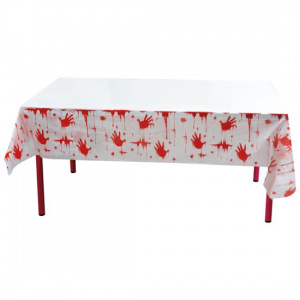 Witbaard tablecloth Bloody 135 x 275 cm white/red