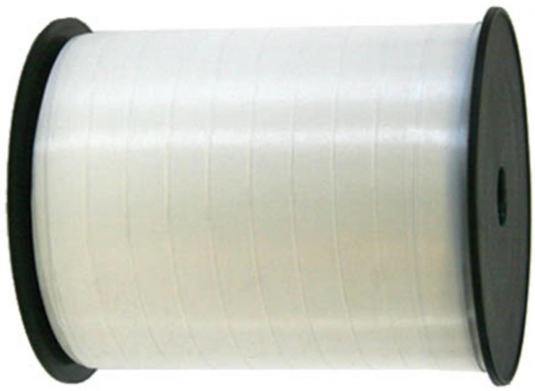 Folat feestlint 10 mm polyester wit 250 m