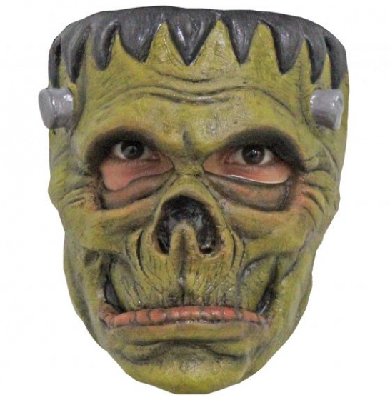 Partychimp gezichtsmasker The Monster PVC groen one-size