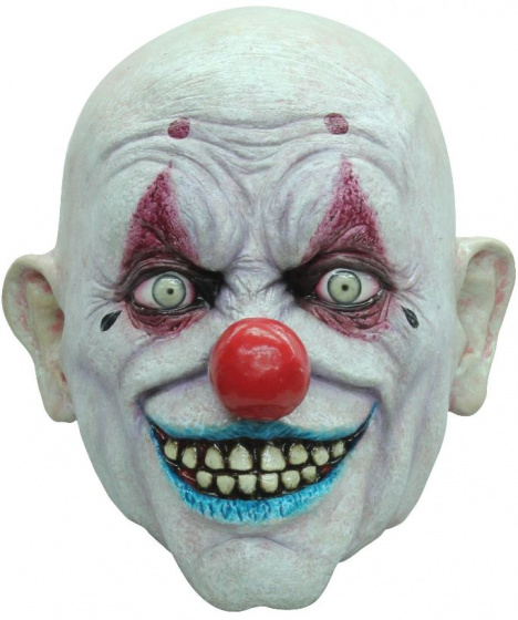 Partychimp verkleedmasker Crappy the Clown latex one-size