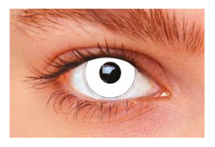 Witbaard contactlenzen White Out wit siliconen