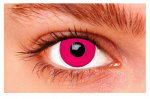Witbaard contactlenzen Pink Out siliconen roze/wit